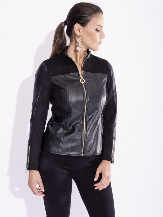 giacca pelle scamosciata donna