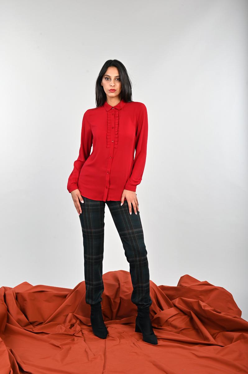 Pantalone pesante con stampe a quadri