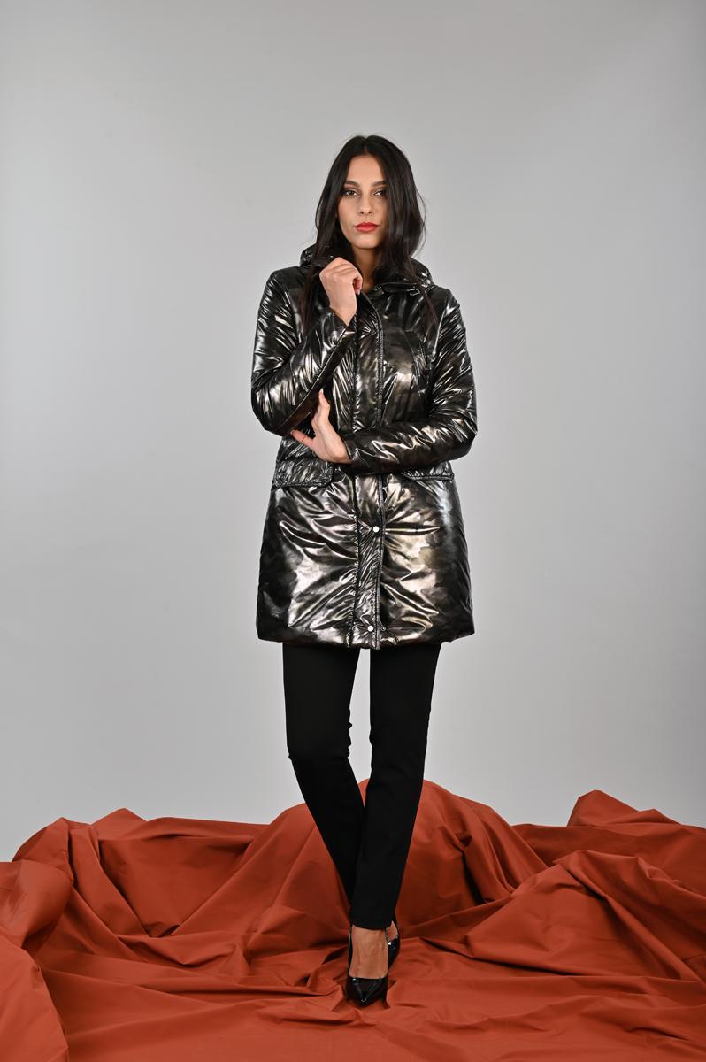 Parka mimetico dalla linea sportiva Meteore Curvy Fashion