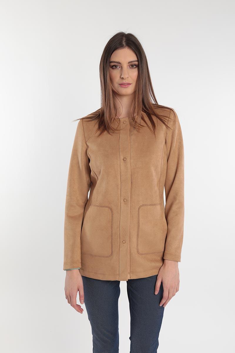 Giacca lunga scamosciata donna curvy primavera 2020 Meteore Fashion