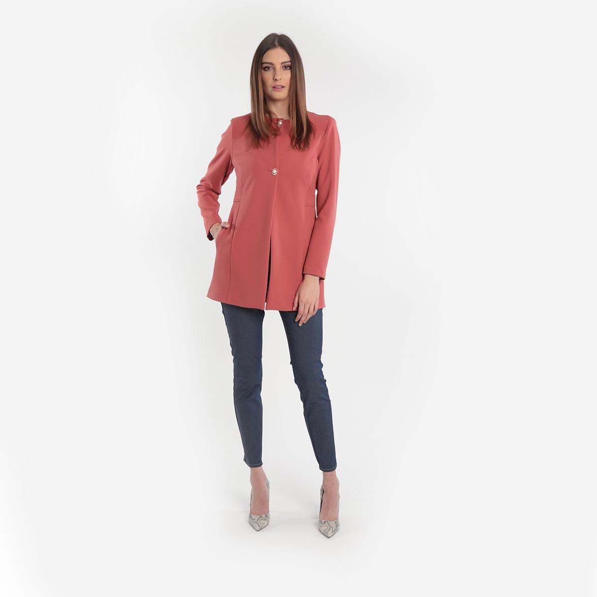 Giacca dalle linee pulite donna curvy primavera 2020 Meteore Fashion