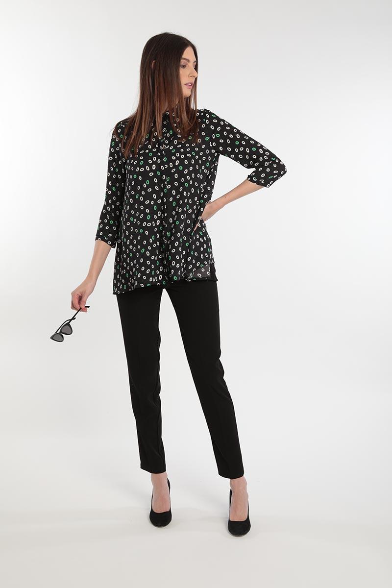 Camicia in georgette con micro fantasia Primavera 2020