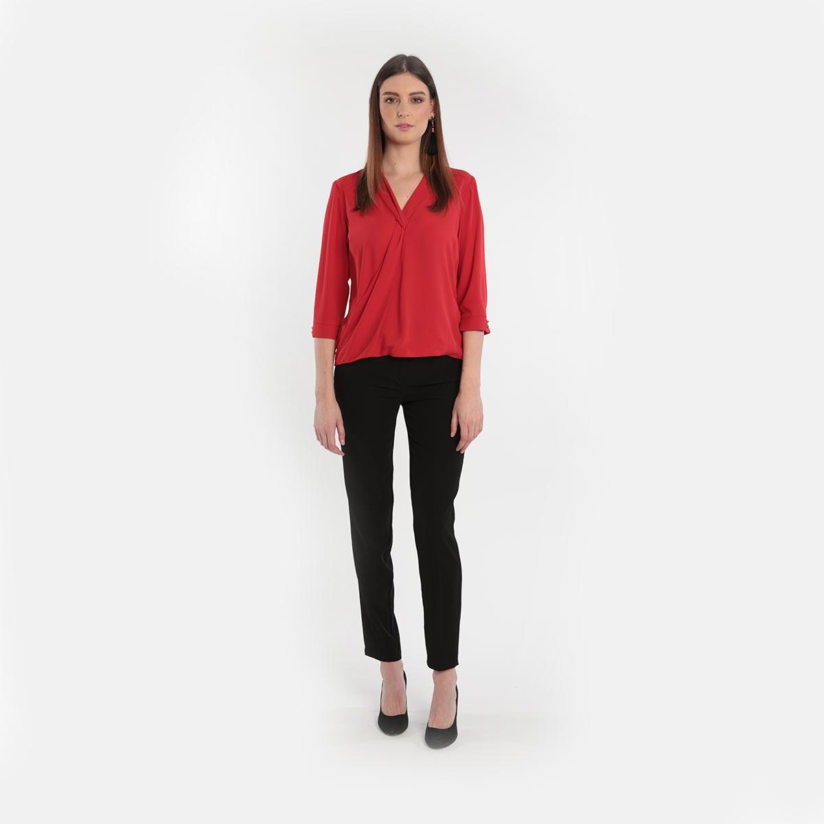 pantalone elasticizzato a vita alta donna Primavera 2020 Meteore Fashion