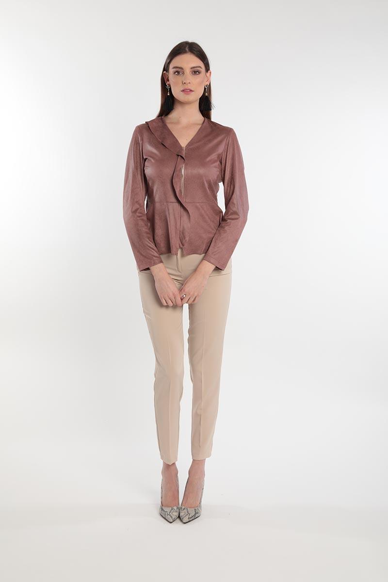 Giacche morbida donna in eco-pelle curvy primavera 2020 Meteore Fashion