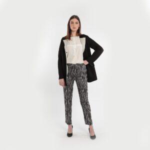 Pantalone leggero in micro fantasia donne curvy