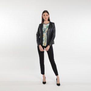 Giacca in ecopelle corta da donna Primavera 2020 Meteore Fashion