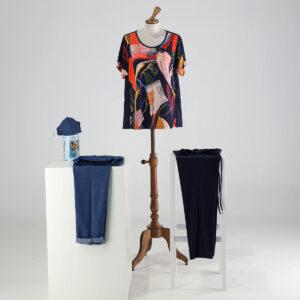 Camicia fantasia, Jeans e pantalone tinta unica. Collezione Estate 20202 Meteore Fashion