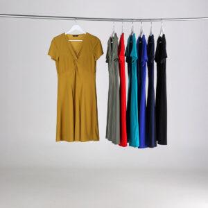 vestito tinta unica collezione estate 2020 Meteore Fashion