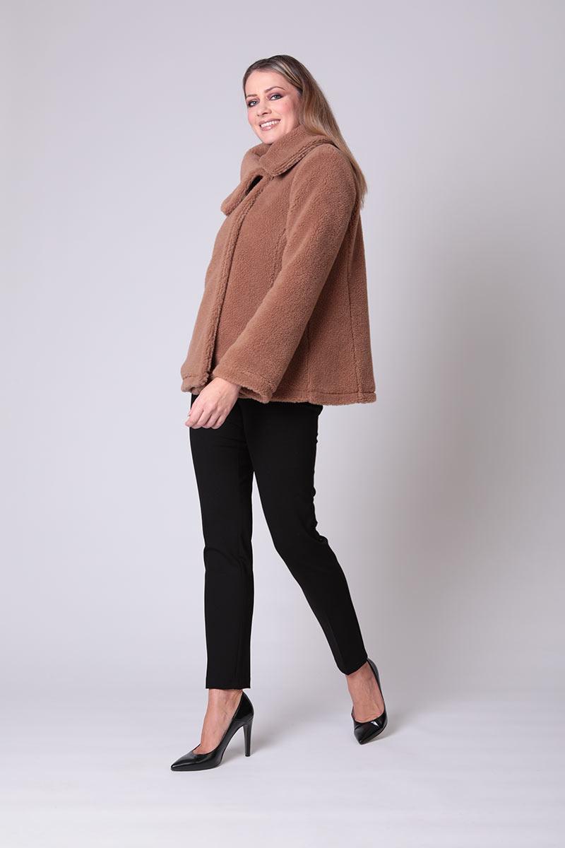 Cappotto corto orsetto in lana